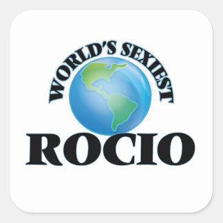 Rocio le plus sexy du monde autocollant carré