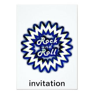 Rock au néon carton d'invitation  12,7 cm x 17,78 cm