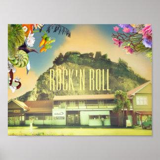 Rock de la Nouvelle Zélande Christchurch Affiches