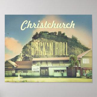 Rock de la Nouvelle Zélande Christchurch Posters