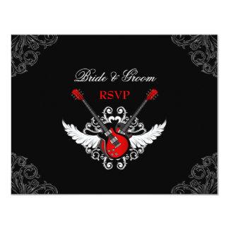 Rock épousant la carte de RSVP Carton D'invitation 10,79 Cm X 13,97 Cm