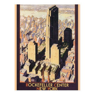 Rockefeller New York central Carte Postale