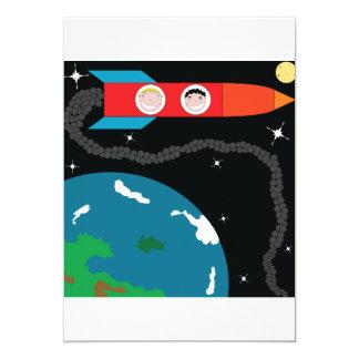 Rocket aux invitations de lune