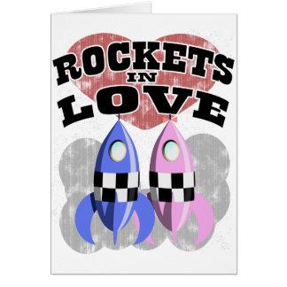 Rocket dans l'amour carte de vœux