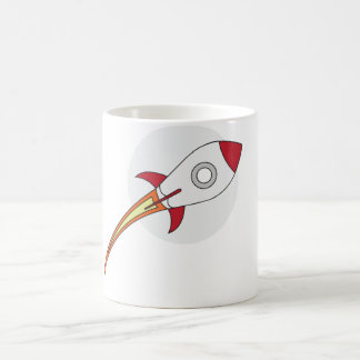 Rocketship rouge mug