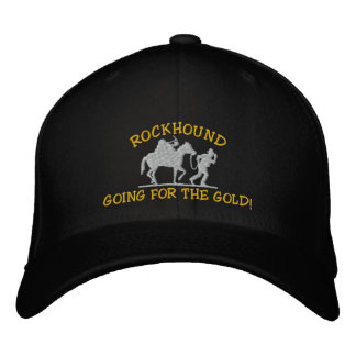 Rockhound allant pour l'or ! Casquette brodé Casquette Brodée