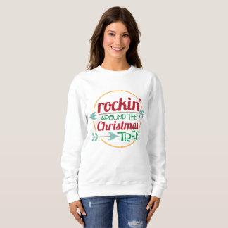 Rockin autour du sweatshirt d'arbre de Noël