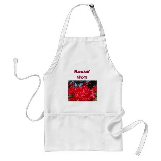 Rockin chaud ! fleurs rouges de Rhodies de tablier
