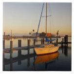 Rockport, port du Texas au coucher du soleil Carreaux