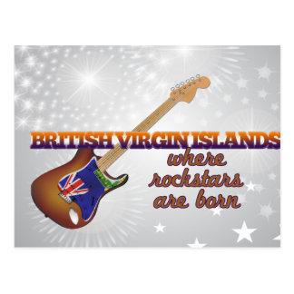 Rockstars sont né en Îles Vierges britanniques Carte Postale