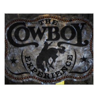 rodéo de cowboy de cheval de ruée de pays poster