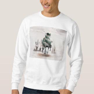 Rodéo - double exposition - cowboy - cowboy de sweatshirt