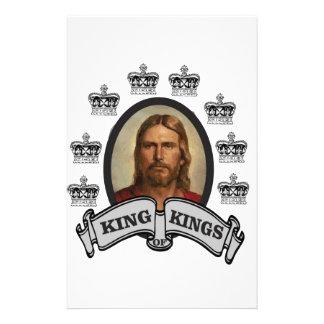 roi couronné des rois papier à lettre customisé