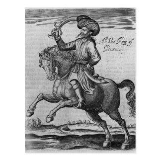Roi d'Abbas de Perse, illustration Carte Postale