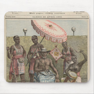 Roi de Behanzin du Dahomey Tapis De Souris