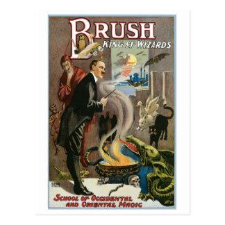 Roi de ~ de brosse de Loi magique vintage de Carte Postale