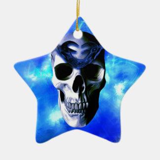 Roi de glace ornement étoile en céramique