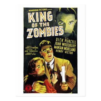 Roi de la carte postale de zombis