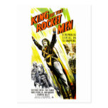 Roi de la carte postale d'hommes de Rocket