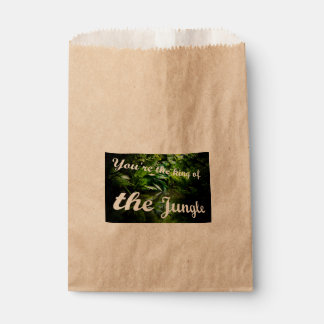Roi de la jungle sachets en papier