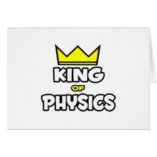 Roi de la physique carte de vœux