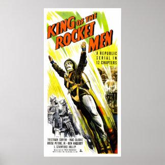Roi de l'affiche d'hommes de Rocket Posters