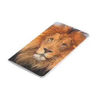 Roi de lion de carnet de journal de champ de grand