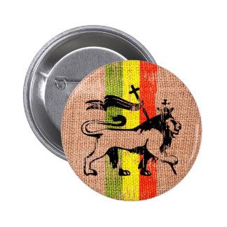 Roi de lion de reggae badge rond 5 cm