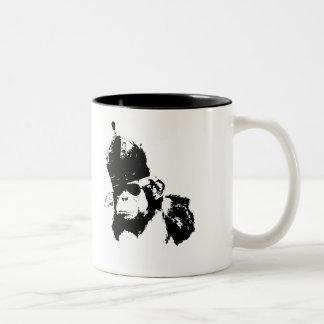 Roi de singe de graffiti mug bicolore