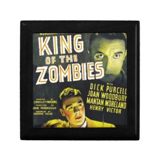 Roi des zombis petite boîte à bijoux carrée