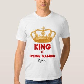 Roi drôle d'à télécommande avec la couronne V30 T-shirts
