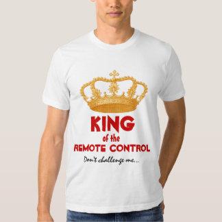 Roi drôle de la couronne à télécommande V34P d'or T-shirt