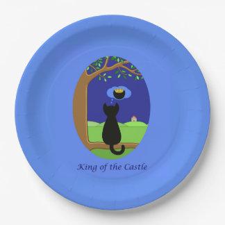 Roi du château assiettes en papier