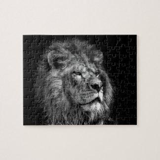 Roi du puzzle de lion de jungle