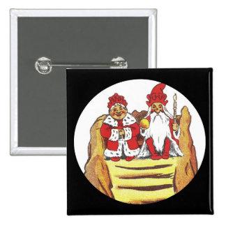 Roi et reine de gnome de Nisse Badges