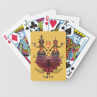 Roi et reine jeux de cartes bicyle