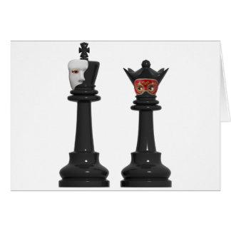 Roi fantôme d'échecs et carte d'anniversaire