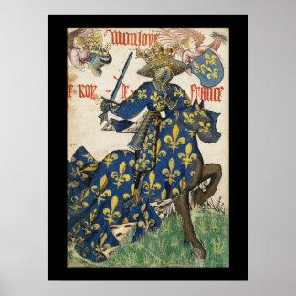 Roi médiéval d'affiche de la France Posters