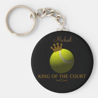 Roi personnalisé du porte - clé de tennis de cour porte-clé rond