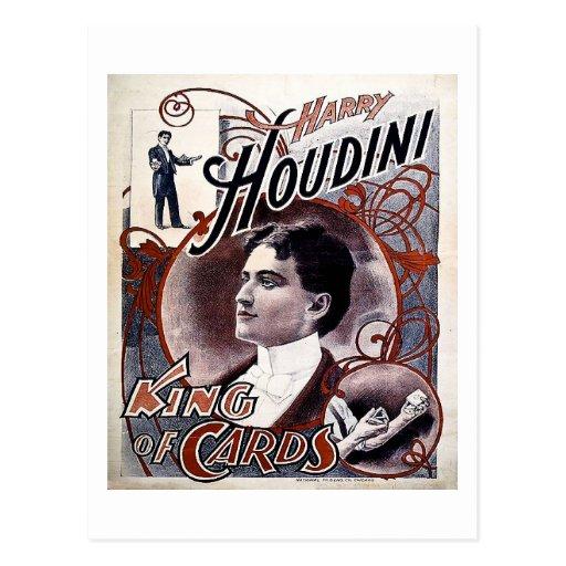 Roi vintage de Harry Houdini de publicité de carte Carte Postale
