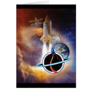 Rôle 2005 de mission d'une navette spatiale de la  carte de vœux