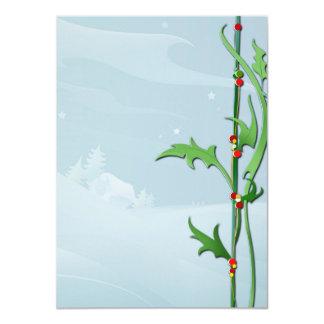 """Rôle de lettre «Brindille de Noël """" Carton D'invitation 11,43 Cm X 15,87 Cm"""