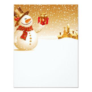"""Rôle de lettre «Présente de neige """" Carton D'invitation 10,79 Cm X 13,97 Cm"""