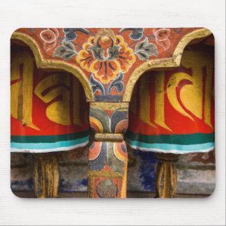 Rôle de prière bouddhiste, Bhutan Tapis De Souris