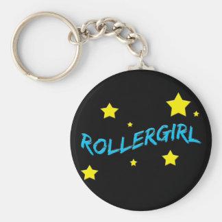Rollergirl Porte-clé Rond