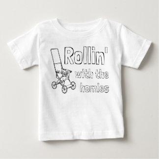 Rollin avec les homies t-shirt pour bébé