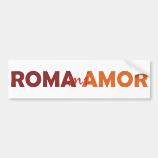 Rom mi Amor Rome mes amours Rome my Love Autocollant Pour Voiture