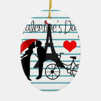 Romance à Paris Ornement Ovale En Céramique