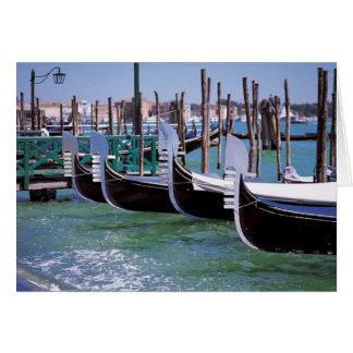 Romance italien de ~ de bateaux de gondole de cartes