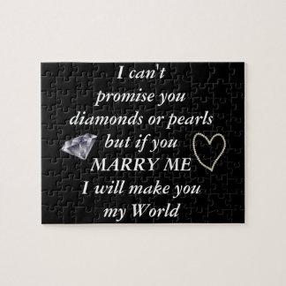 Romantique épousez-moi poème puzzle